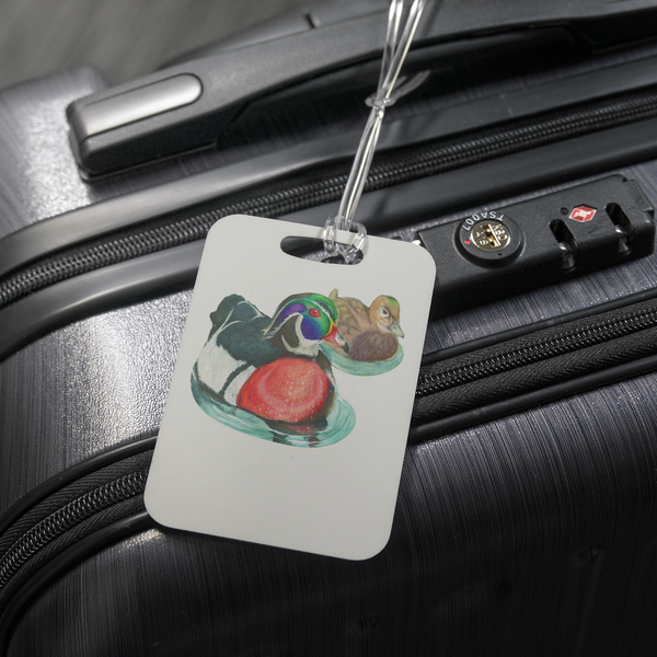 Wood Duck Luggage Tag