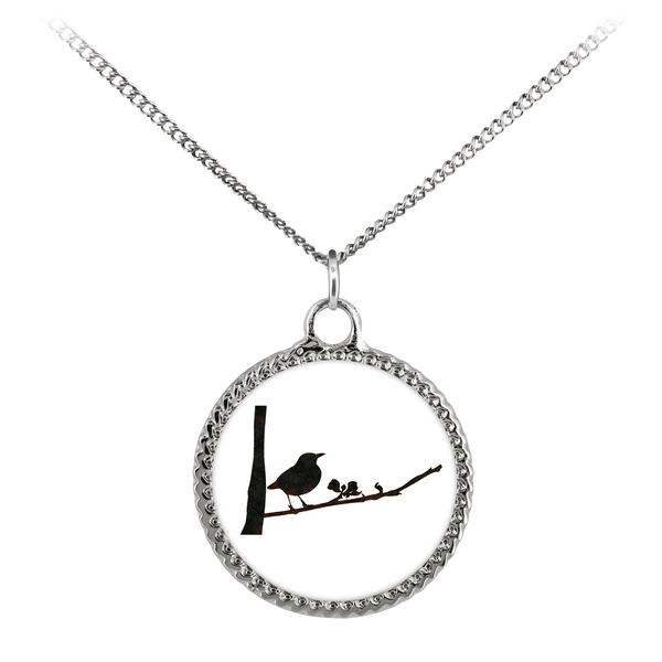 Black Bird Necklace Deco Coin