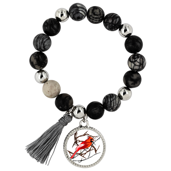 Northern Cardinal Bird Bracelet Lyric