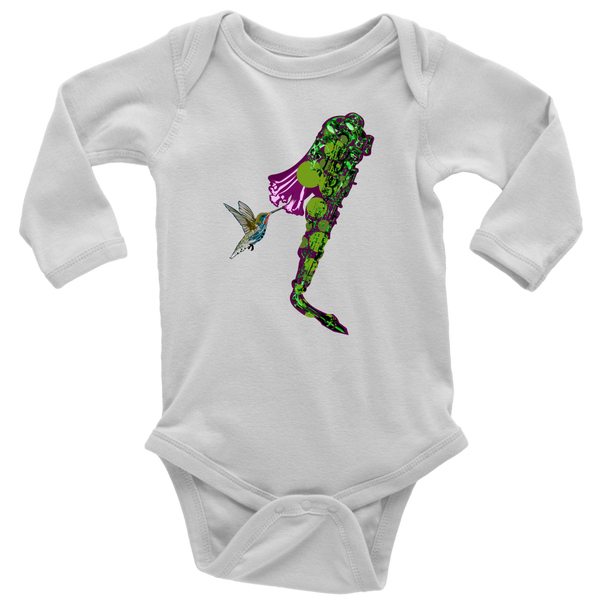Hummingbird Long Sleeve Baby Bodysuit