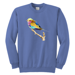 Lilac-breasted Roller Youth Crewneck Sweatshirt