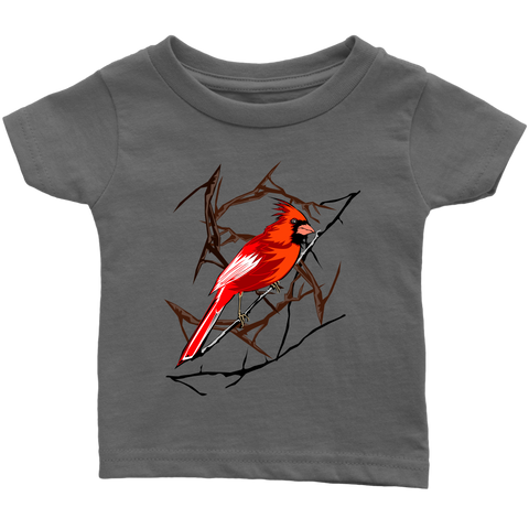Northern Cardinal Bird Infant T-Shirt