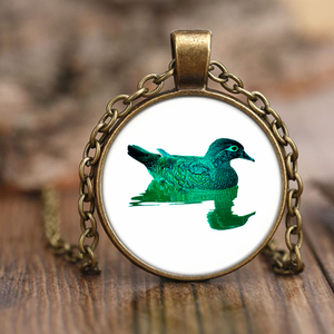 Duck Necklace Antique Brass