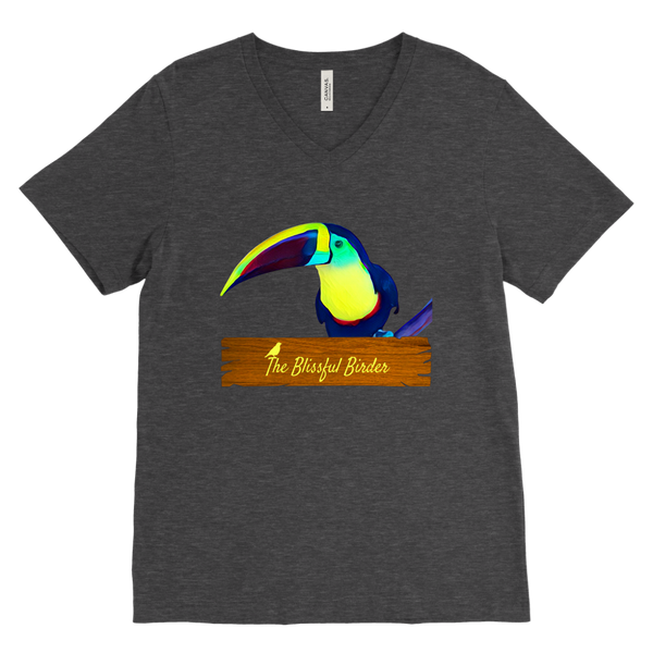 Toucan Canvas Mens V-Neck