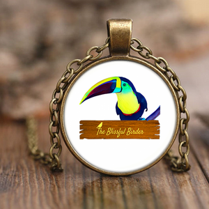 Toucan Necklace Antique Brass