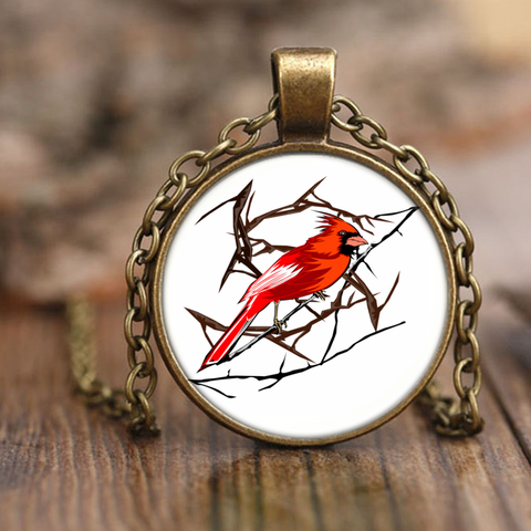 Northern Cardinal Bird Necklace