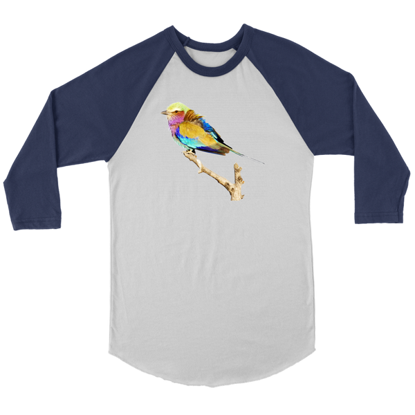 Lilac-breasted Roller Canvas Unisex 3/4 Raglan