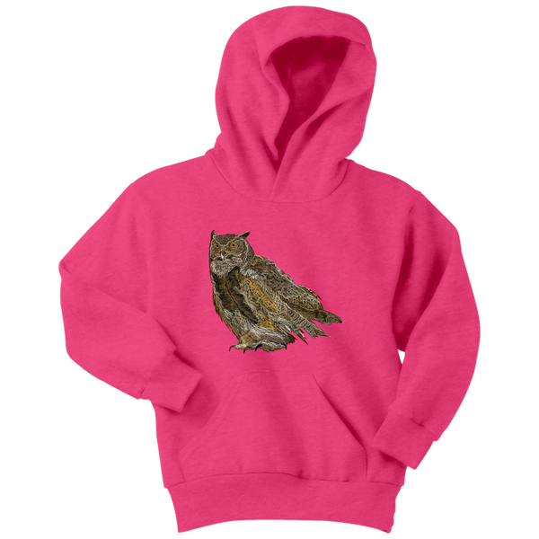 Great Horned Owl Youth Hoodie