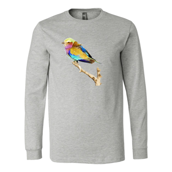 Lilac-breasted Roller Canvas Long Sleeve Shirt