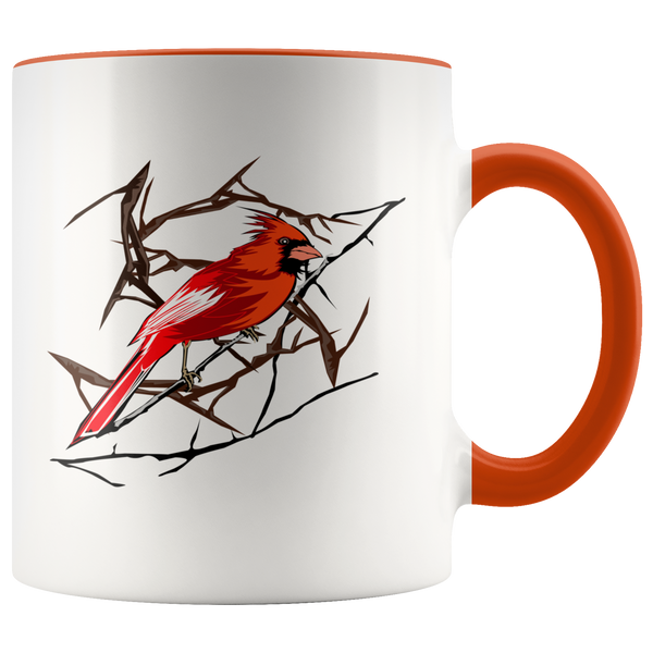 Northern Cardinal Bird Accent Mug