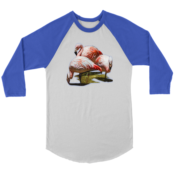 Flamingo Canvas Unisex 3/4 Raglan