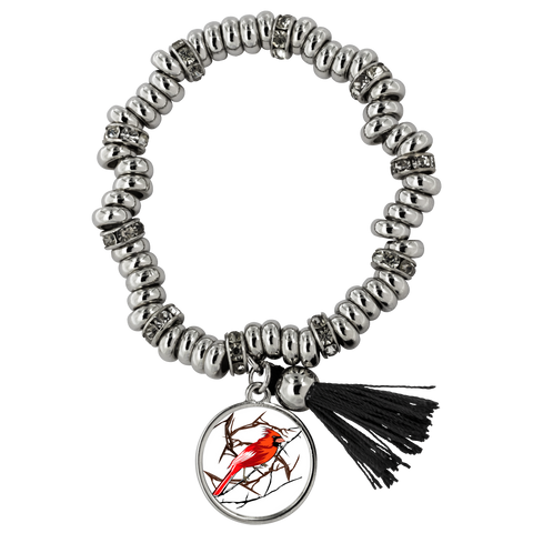 Northern Cardinal Bird Bracelet Piper
