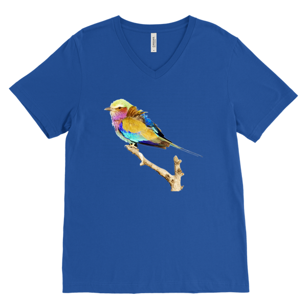 Lilac-breasted Roller Canvas Mens V-Neck