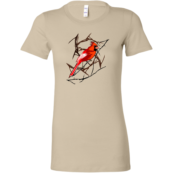 Northern Cardinal Bird Bella Women's Shirt