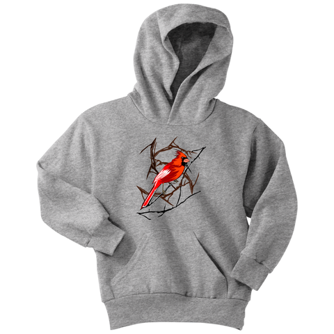 Northern Cardinal Bird Youth Hoodie