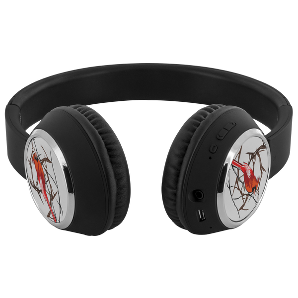 Northern Cardinal Bird Headphones Beebop