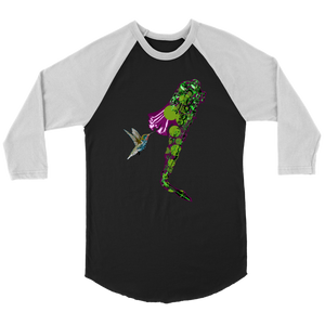 Hummingbird Canvas Unisex 3/4 Raglan
