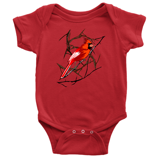 Northern Cardinal Bird Baby Bodysuit