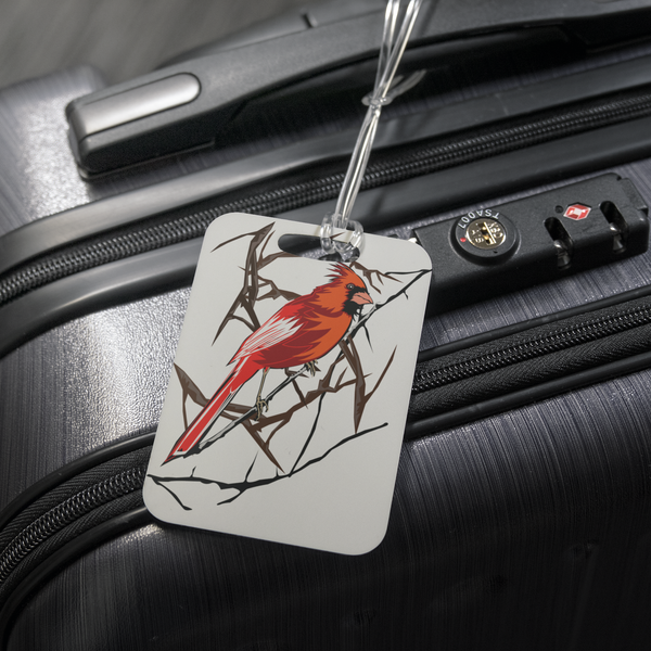 Northern Cardinal Bird Luggage Tag