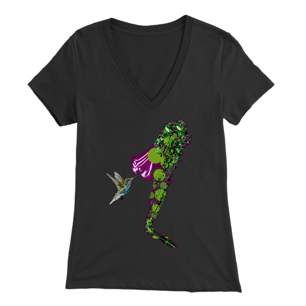 Hummingbird Bella Women's V-Neck
