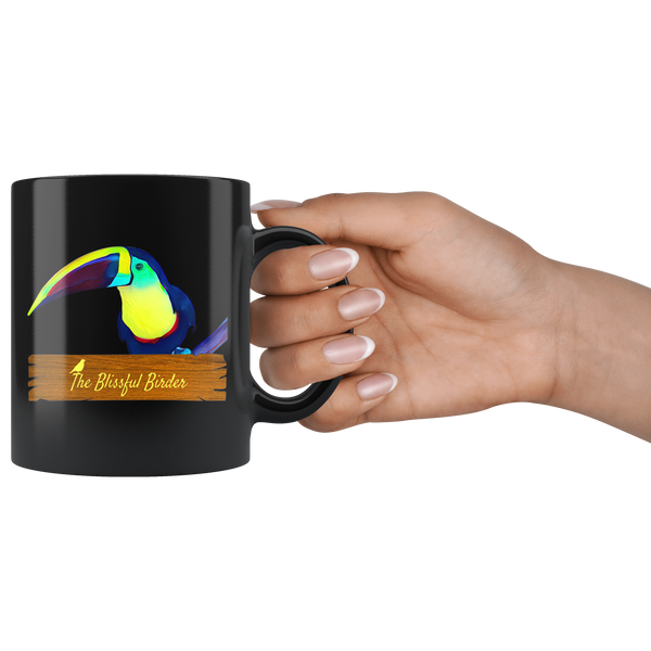 Toucan Black 11oz Mug