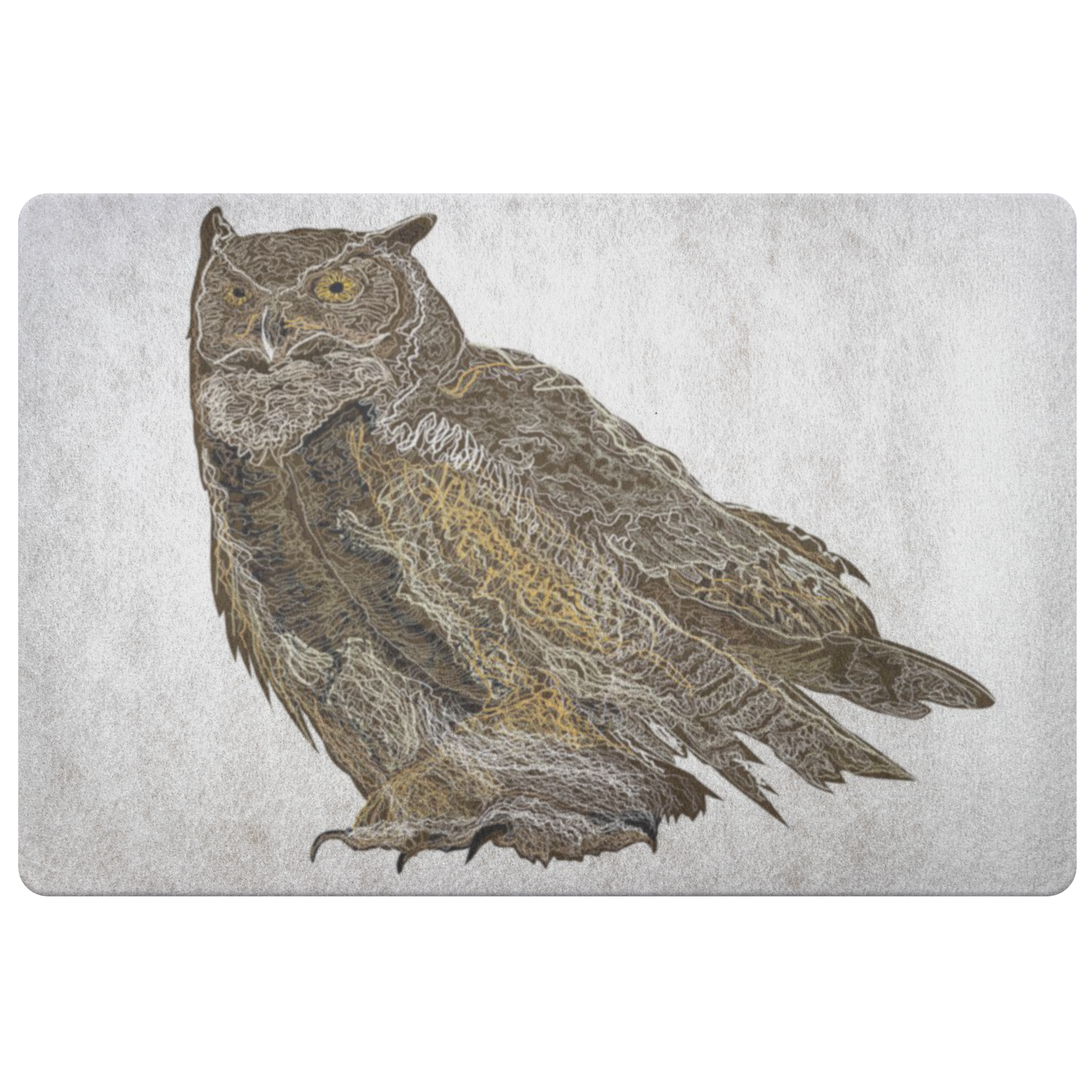 Great Horned Owl Doormat