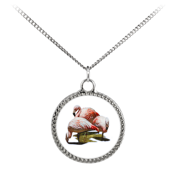 Flamingo Necklace Deco Coin