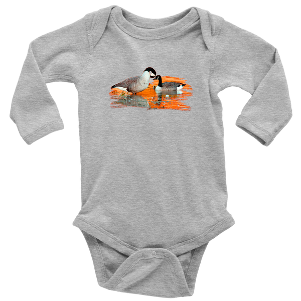 Goose Long Sleeve Baby Bodysuit