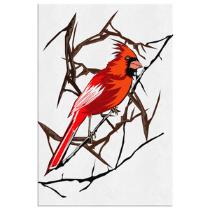 Northern Cardinal Bird Rectangle Canvas Wrap