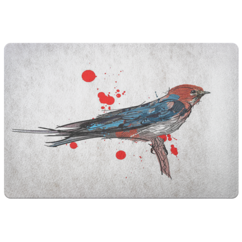 Lesser Striped Swallow Doormat