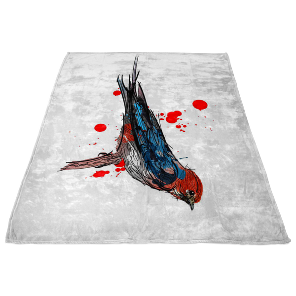 Lesser Striped Swallow Fleece Blanket