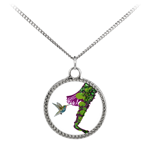 Humming Bird Necklace Deco Coin