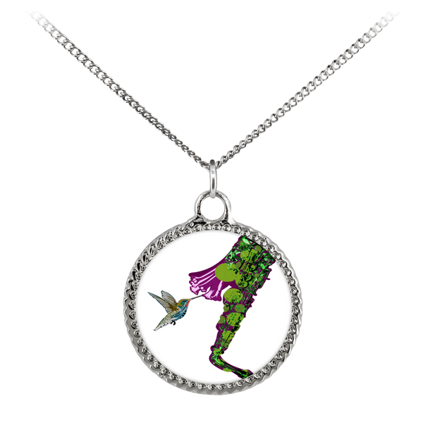 Hummingbird Necklace Deco Coin