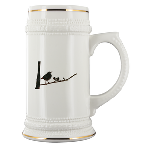 Black Bird Beer Stein