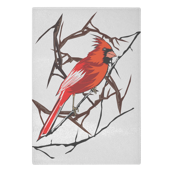 Northern Cardinal Bird Cutting Board