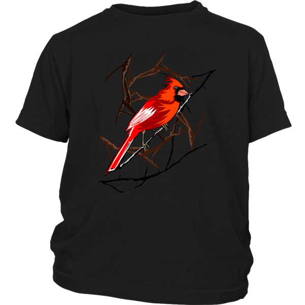 Northern Cardinal Bird District Youth Shirt