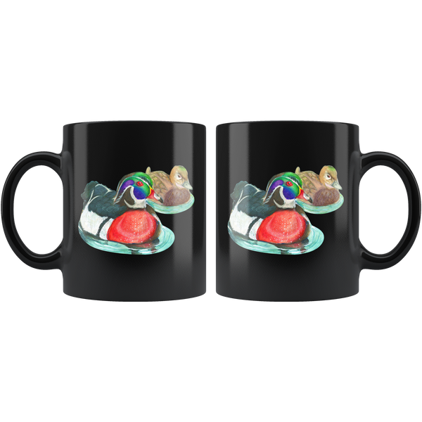 Wood Duck Black 11oz Mug