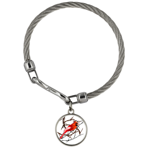 Northern Cardinal Bird Bracelet Wickford