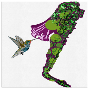 Humming Bird Square Canvas Wrap