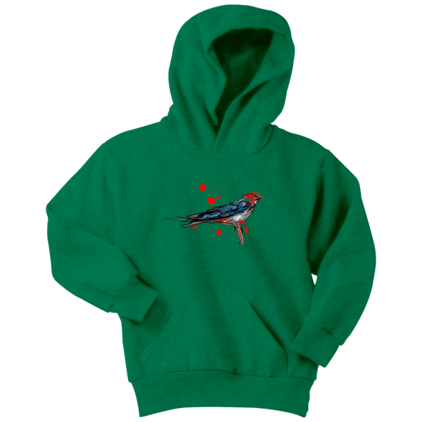 Lesser Striped Swallow Youth Hoodie