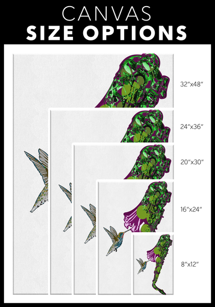 Humming Bird Rectangle Canvas Wrap