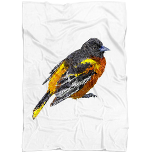 Baltimore Oriole Fleece Blanket