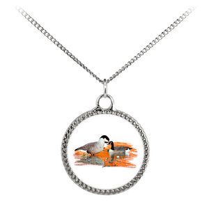 Goose Necklace Deco Coin