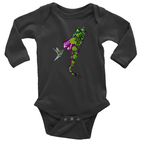Humming Bird Long Sleeve Baby Bodysuit