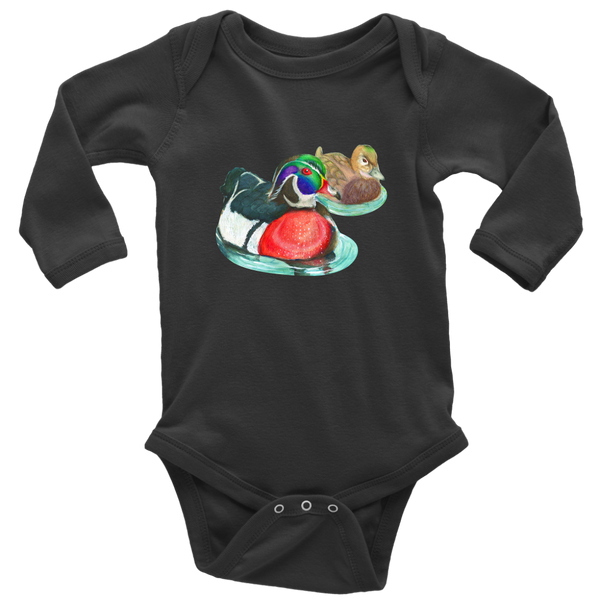 Wood Duck Long Sleeve Baby Bodysuit