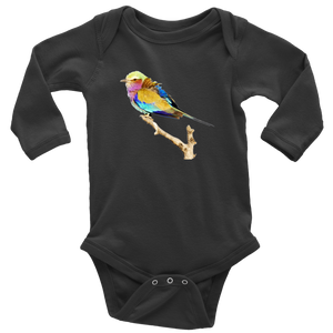 Lilac-breasted Roller Long Sleeve Baby Bodysuit