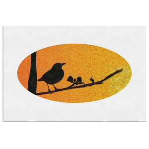 Black Bird Canvas Wrap