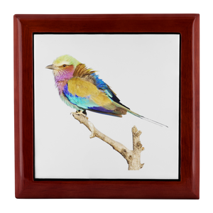 Lilac-breasted Roller Jewelry Box