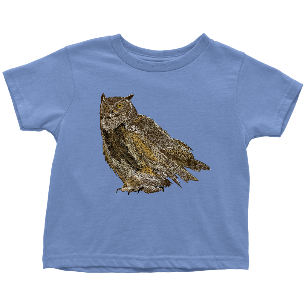 Great Horned Owl Toddler T-Shirts