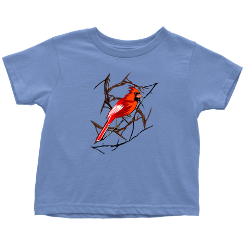 Northern Cardinal Bird Toddler T-Shirt